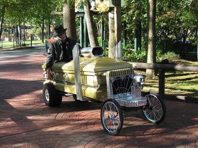A casket car.