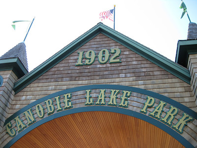The Entrance to Canobie Lake Park. The park first opened in 1902.