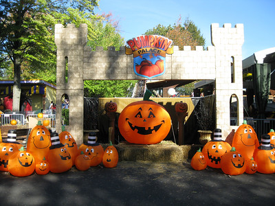 The remnants of Pumpkin Palace were moved to Kiddieland.