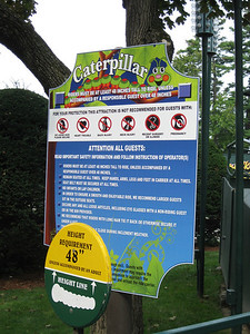 There were new ride signs.