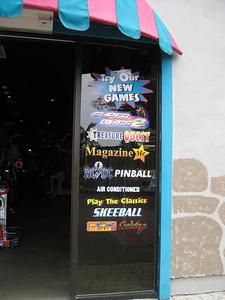 Palace Arcade sign.