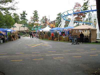 Autumn Fairgrounds tents.