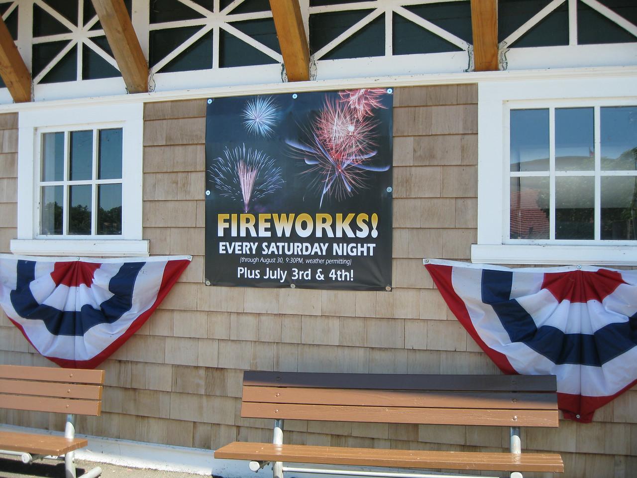Fireworks sign.