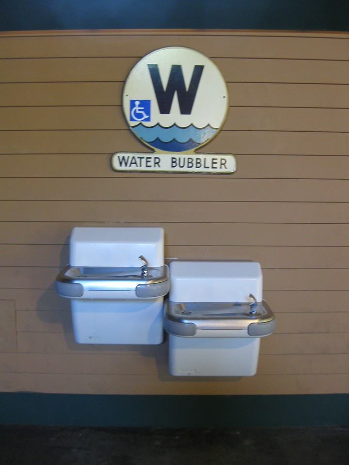 Water bubbler.