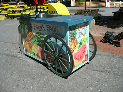 Fresh Fruit cart.