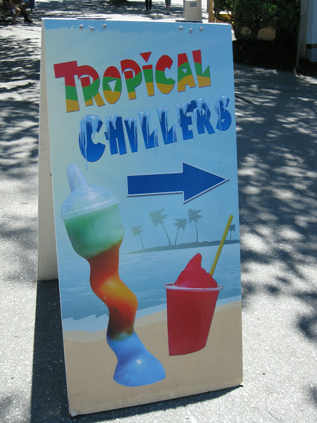 Tropical Chillers sign.