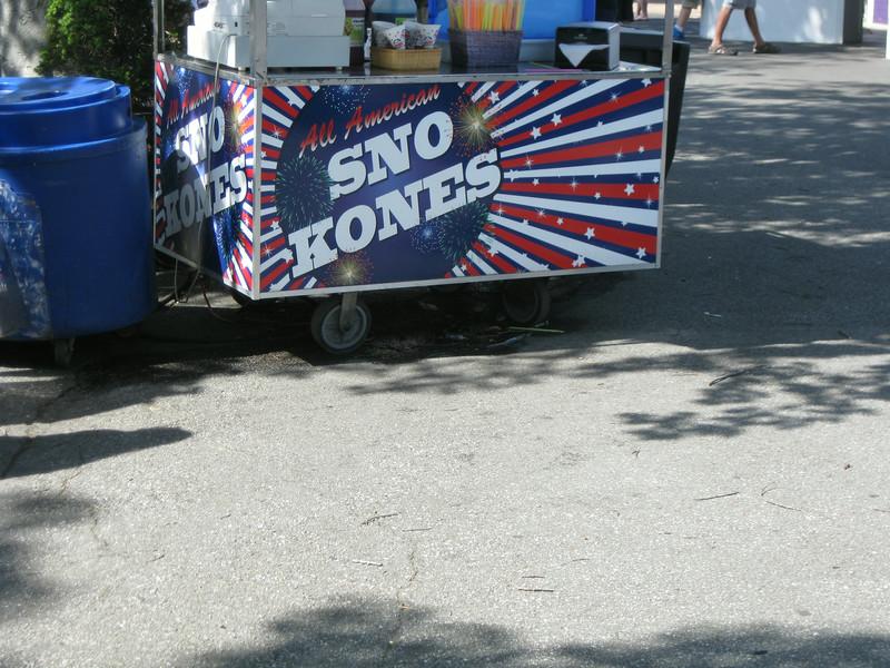 Sno Kones cart.