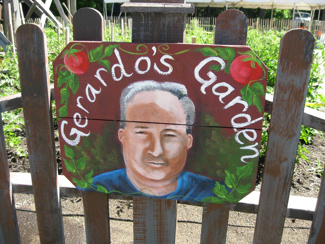 Gerardo's Garden sign.