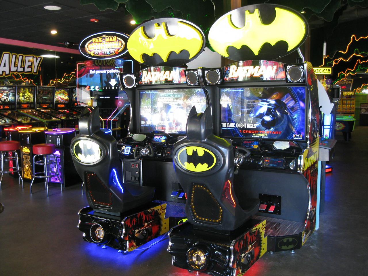 New Batman arcade games inside the Palace Arcade.