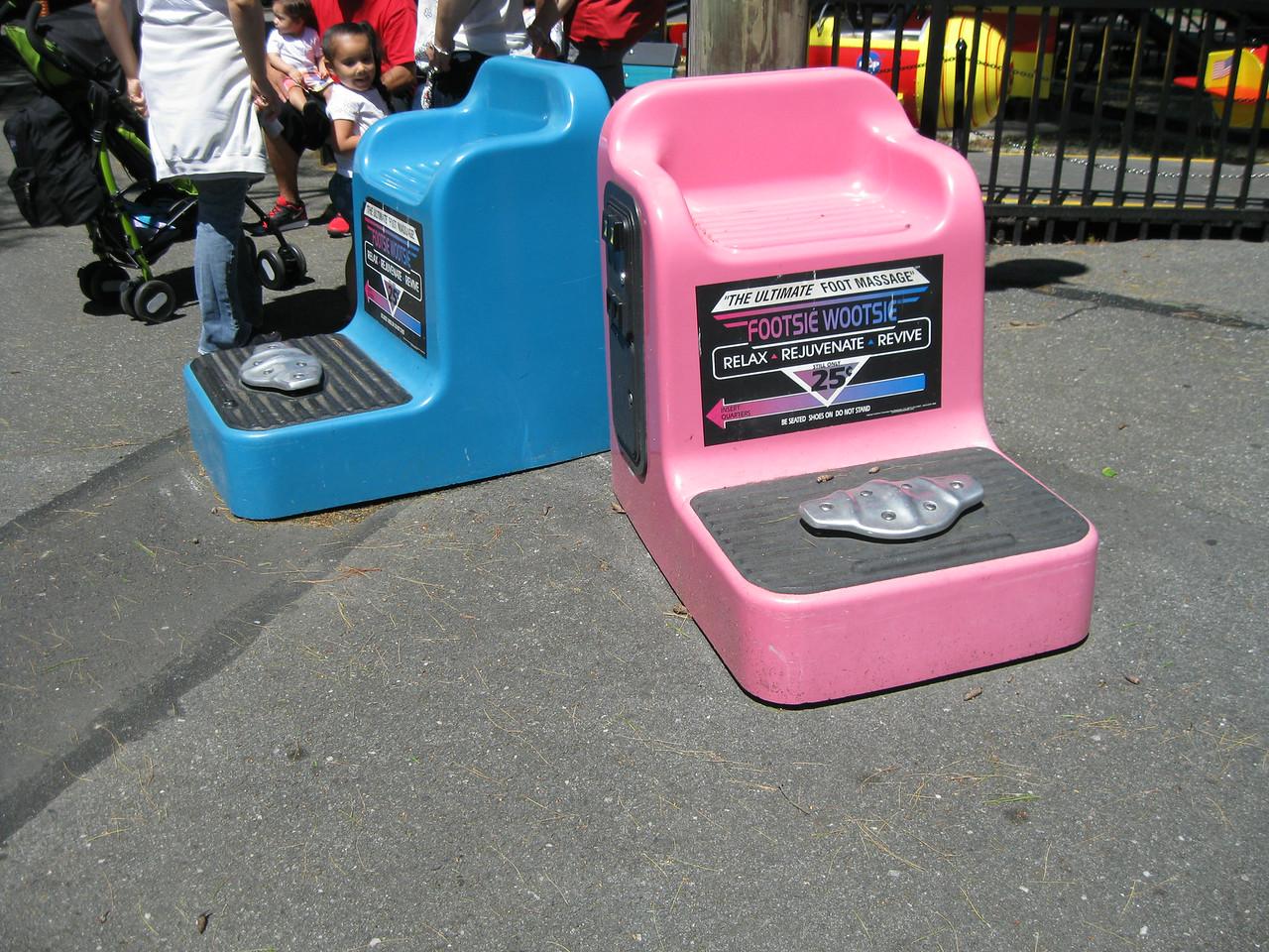 Footsie Wootsie machines in kiddie land.
