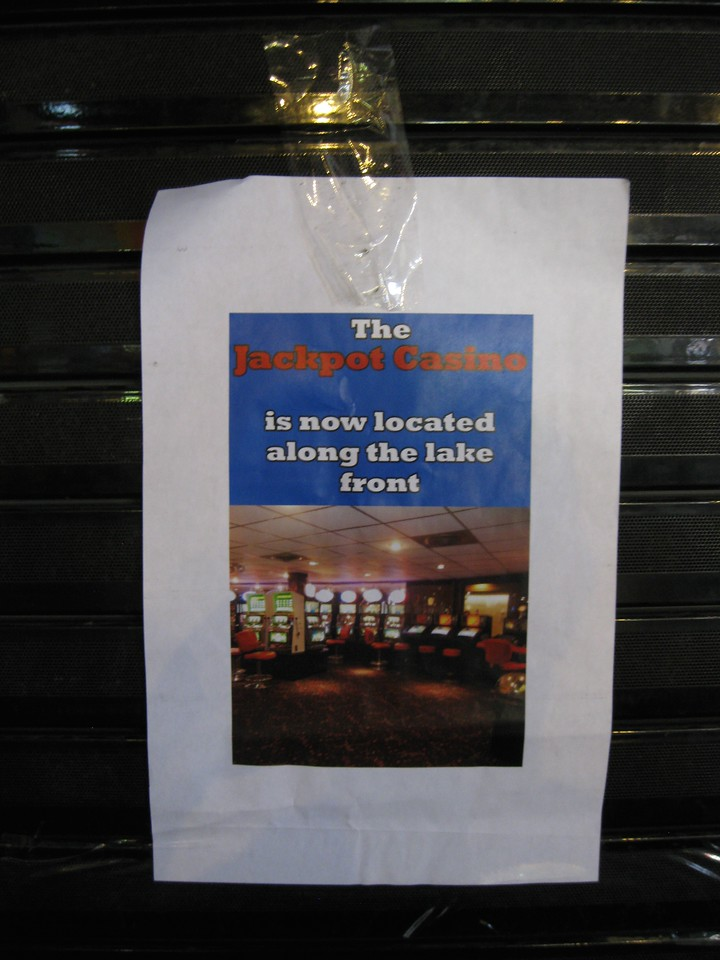 The Jackpot Casino is now closed, with the machines moved to the new Boathouse Casino.