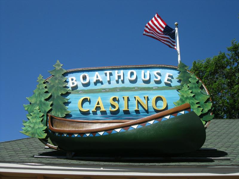 Boathouse Casino sign.