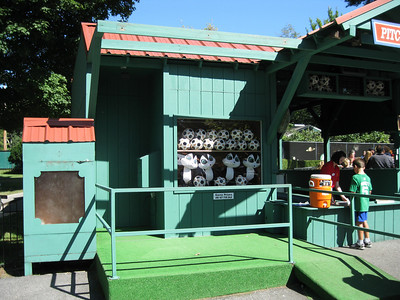 The renovated Pitcher's Challenge stand had been painted.