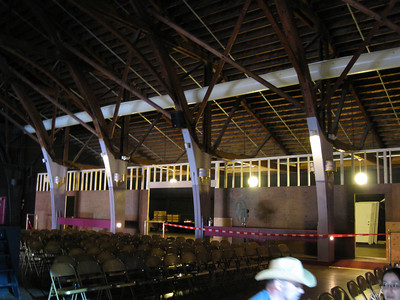 Haunt construction inside the Dancehall Theater.