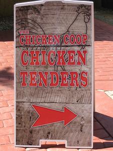 Chicken Coop signboard.