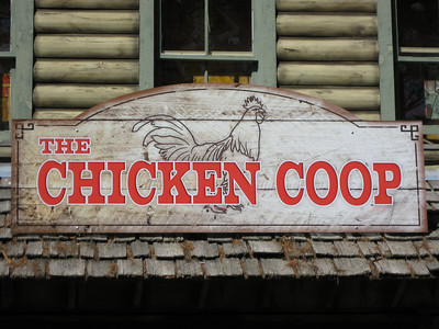 Chicken Coop sign.