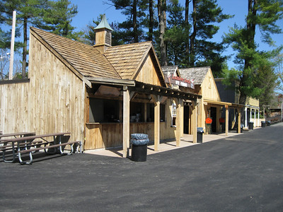 Lumberjack Ice Cream's front porch was renovated.