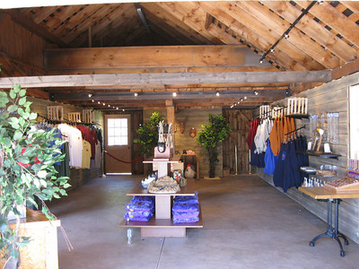 Interior of the renovated gift shop.