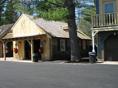 The renovated gift shop next to Lumberjack Ice Cream building.