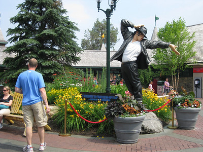 There was a new Michael Jackson statue in the entrance courtyard.