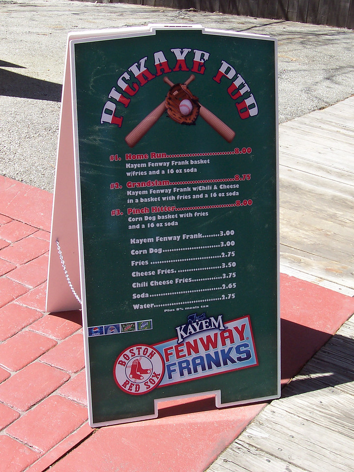 Fenway Franks are now on the menu.