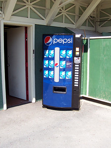 New Pepsi machines sell Aquafina water in the park.