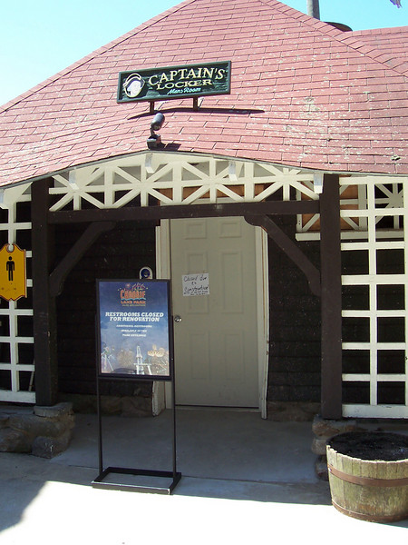 The Ocean Trip restrooms were closed for renovations.