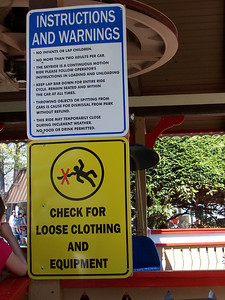New signs in the Sky Ride.