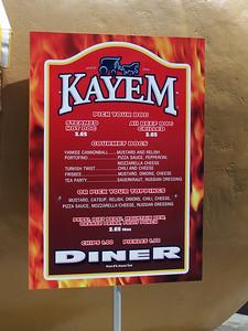 New Kayem Diner prices.