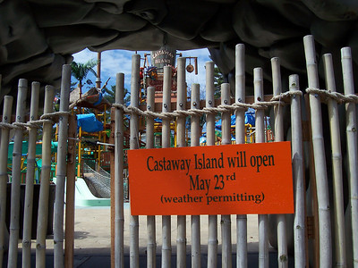 Castaway Island was closed.