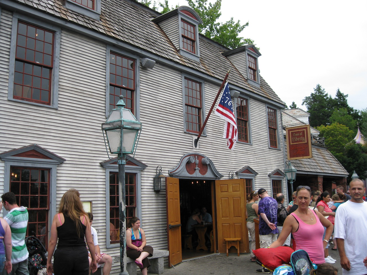 Sons of Liberty Tavern, my favorite attraction at Canobie Lake Park.