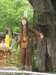 Wooden Native American Indian statue.