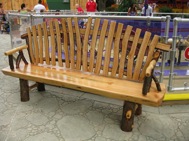 A new kiddie land bench.