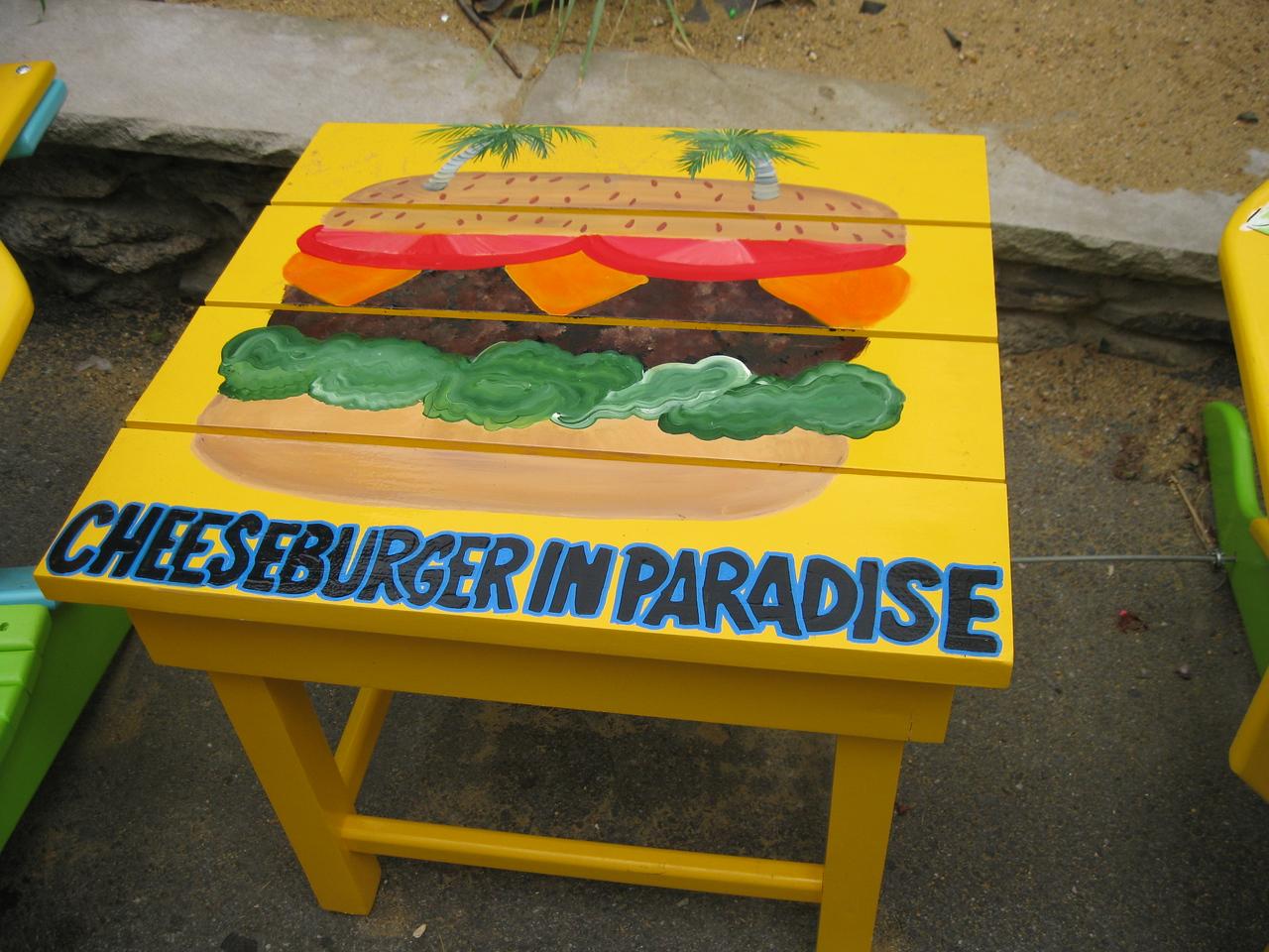 Cheeseburger in Paradise.