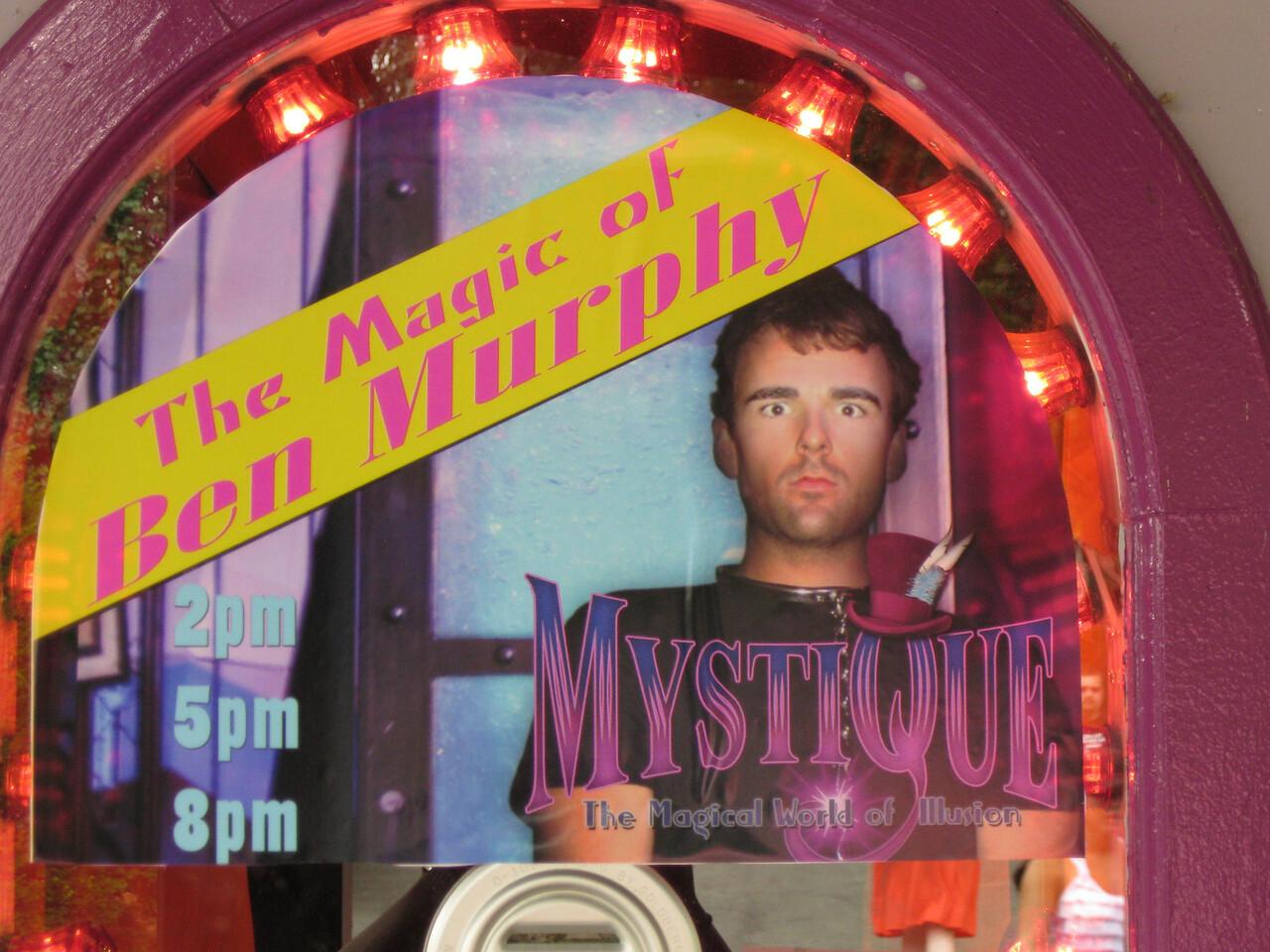 The Magic of Ben Murphy poster.