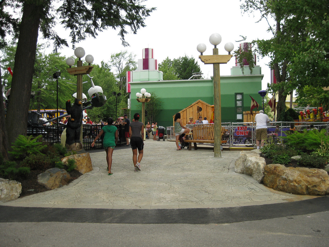 The back of the new kiddie land.