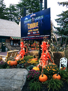 There were displays for Spooky World, the Halloween haunt that's new to Canobie this year.
