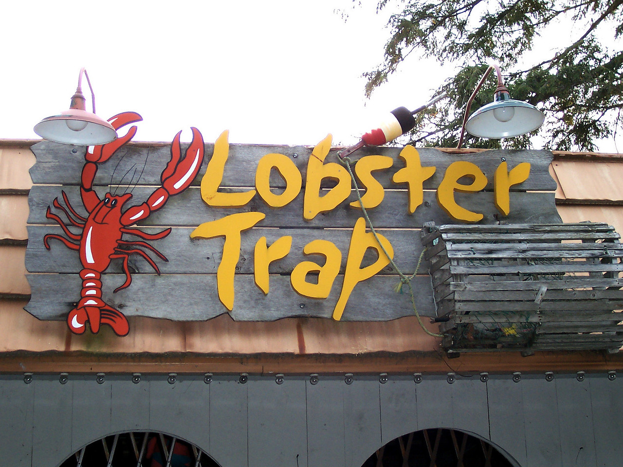 Lobster Trap sign.