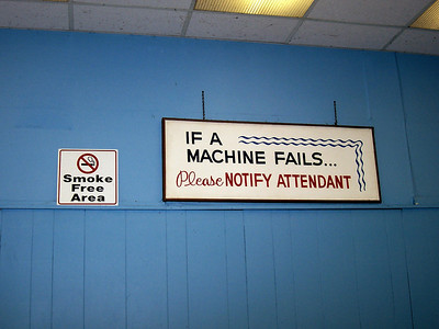Signs in the Lakeside Arcade.