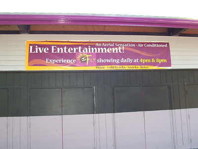 Another banner outside the Dancehall Theatre.