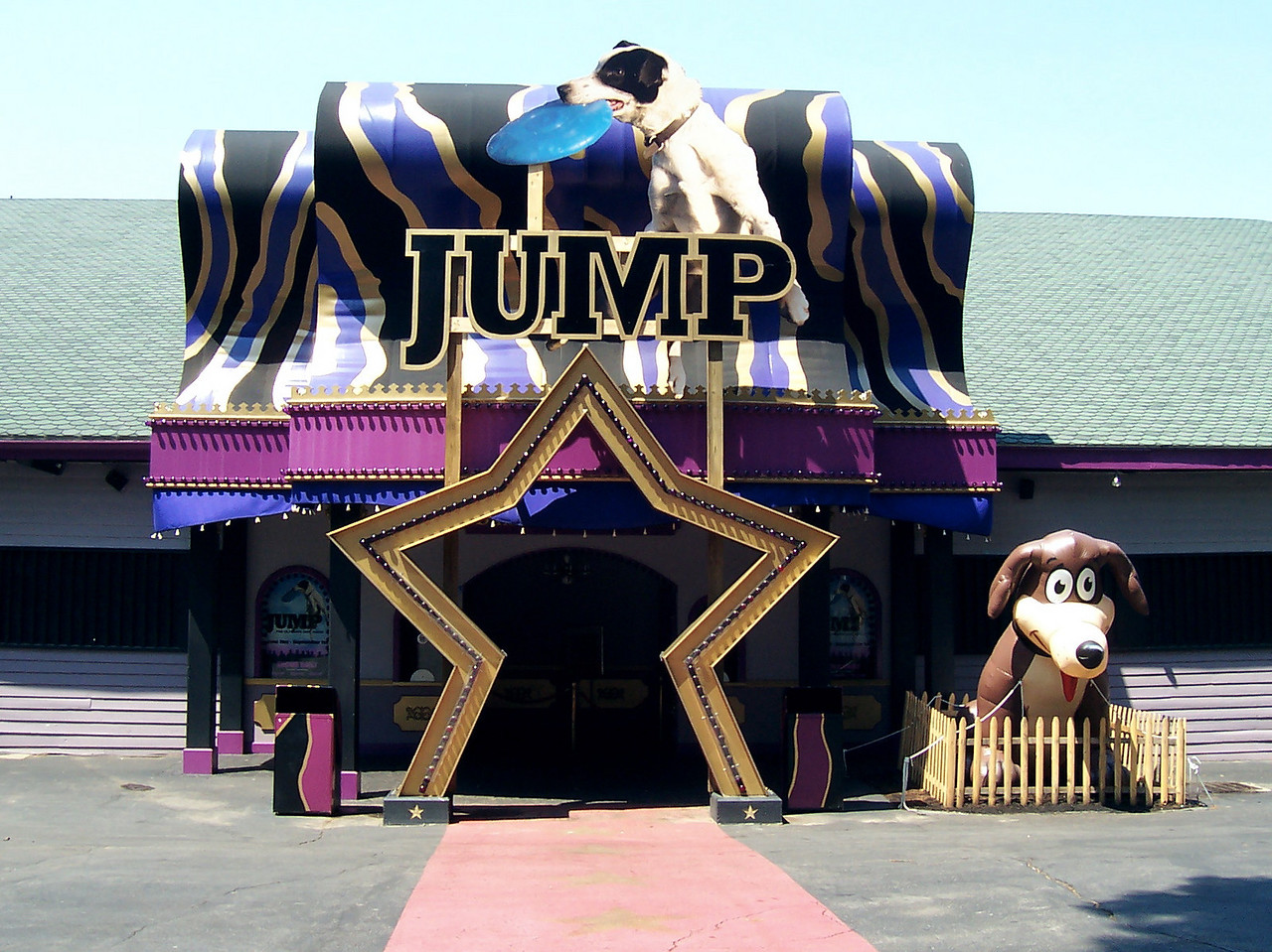The Dancehall Theatre was themed for the Jump! stunt dog show.