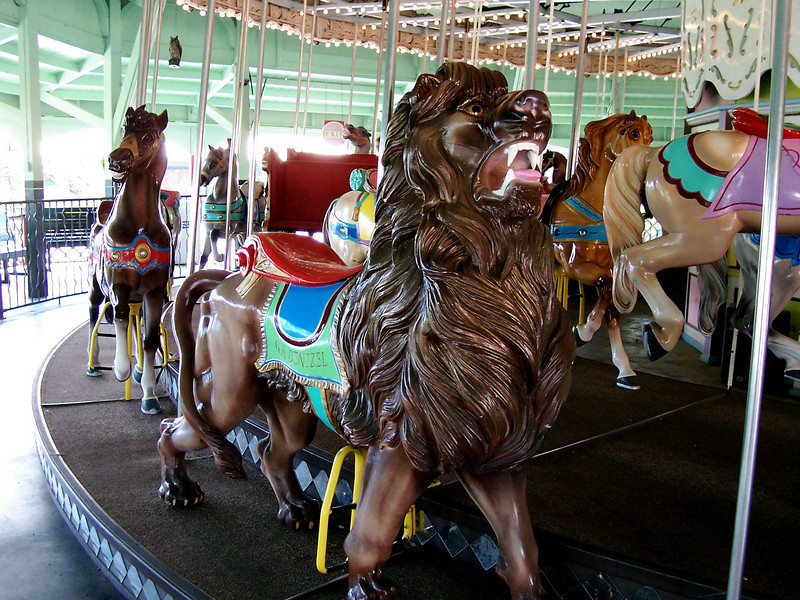 There's a lion on the Carousel.