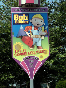 A poster for the Bob the Builder show at the Midway Stage.