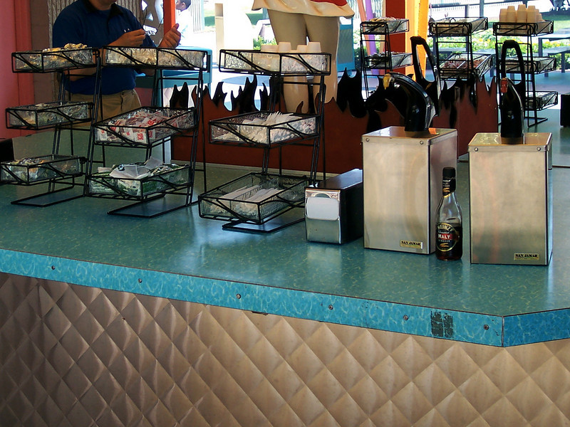 Be-Bop Diner has new condiment stands.
