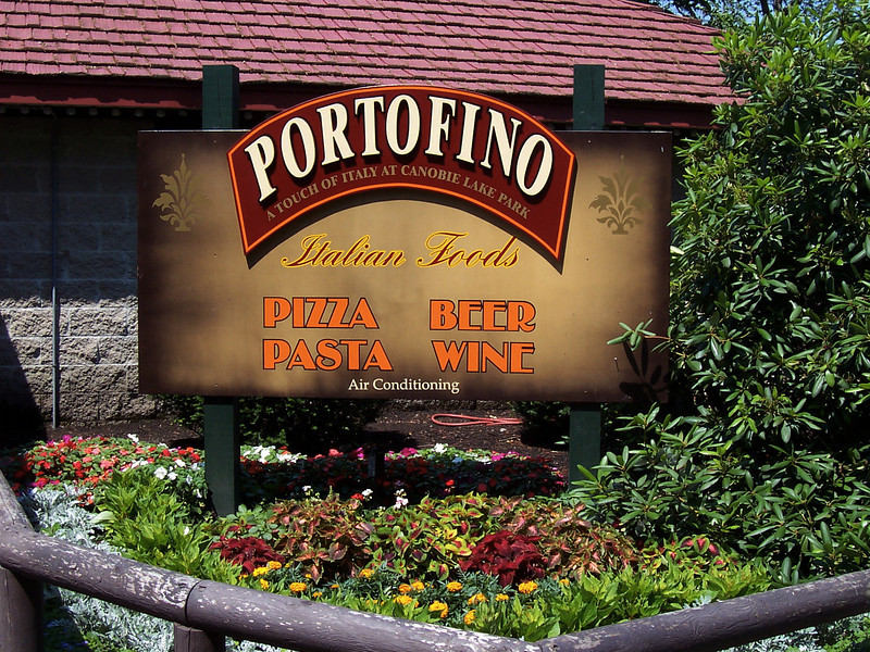 Portofino Restaurant sign.