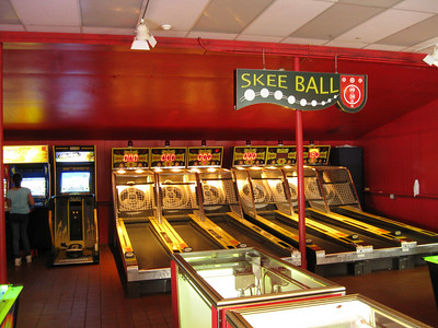 New Skee Ball sign at the Lake Arcade.