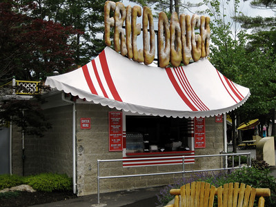 The Fried Dough stand with the new signage.