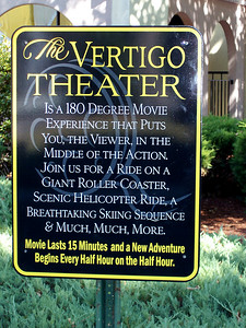 A new Vertigo Theater sign.