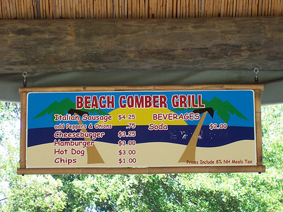 But, this sign says Beach Comber Grill.