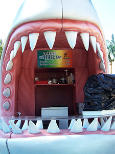 The rethemed Shark food stand.
